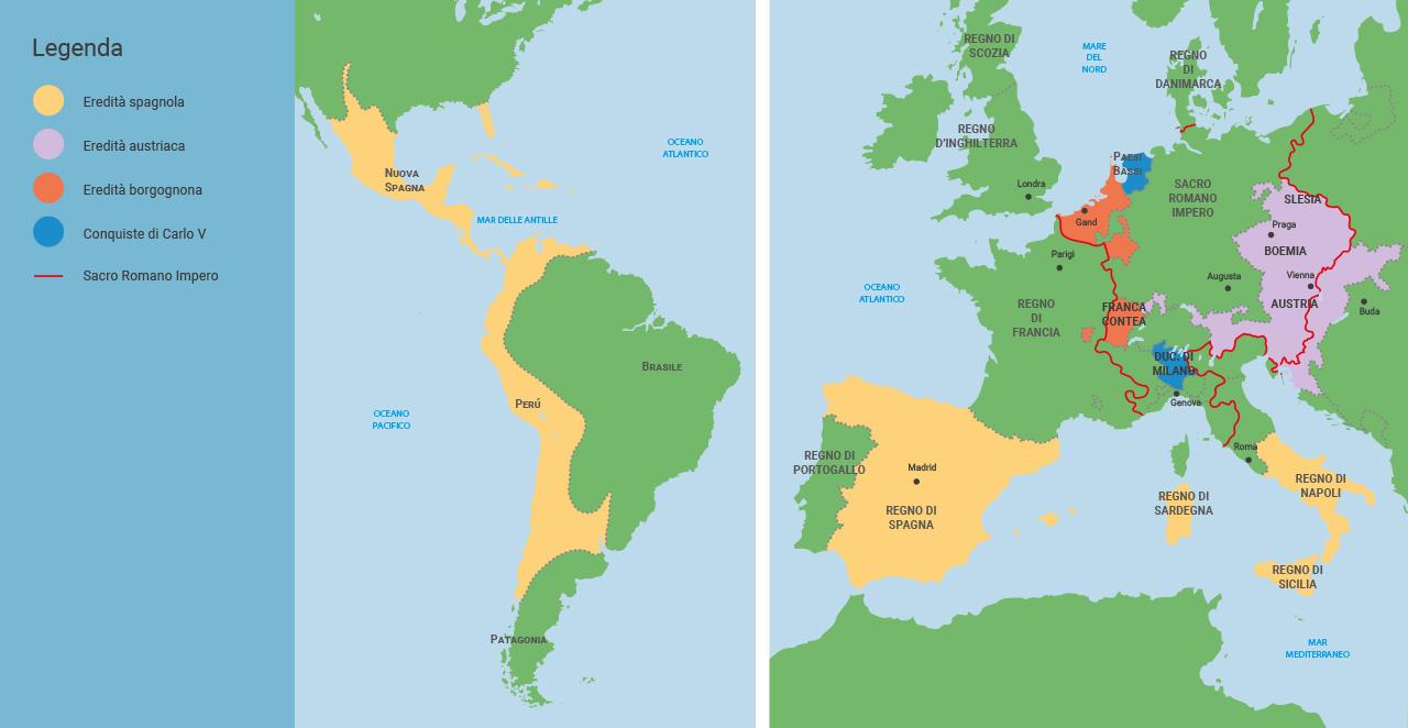 Cartina Mappa Spagna.Spagna Cartina Europa