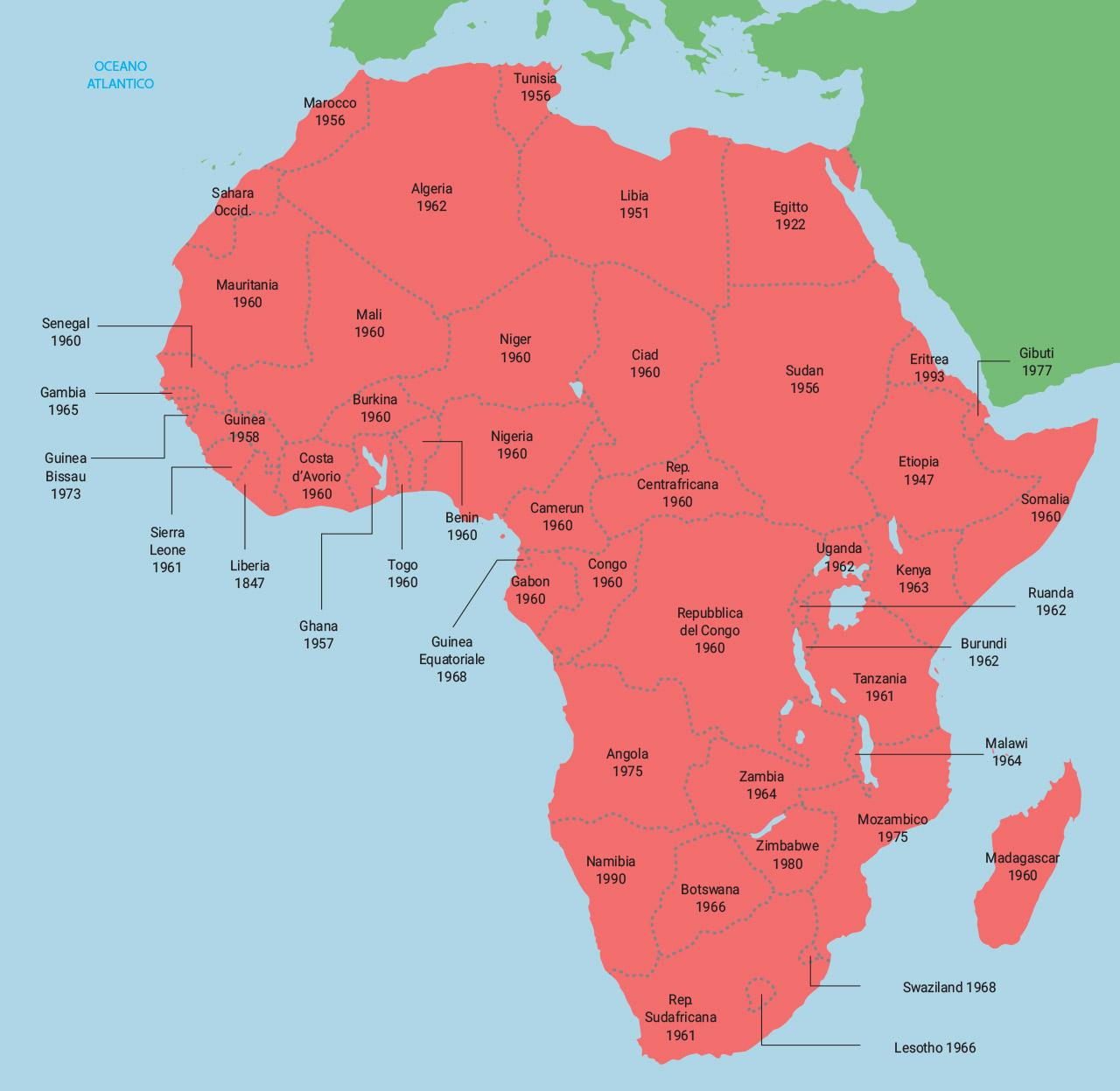 Cartina Dell Africa Fisica E Politica.Cartina Africa