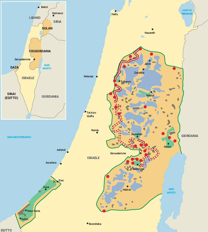 Israele Palestina Cartina.Mondadori Education
